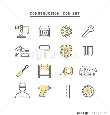 CONSTRUCTION ICON SET 61675868
