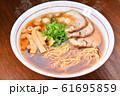 注意)湯気はレタッチ合成です。昔ながらの中華そば、醤油ラーメン、中華ラーメンのイメージ。 61695859