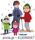 スキー家族 61696687