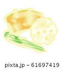 天ぷら イラスト かぼちゃ オクラ レンコン 野菜 61697419