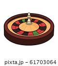 ルーレットのイラスト。ルーレットはカジノのゲームの一つ。 61703064