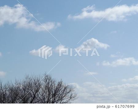 霞ヶ浦の青空と白い雲 61707699