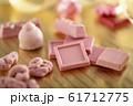 色々な種類のルビーチョコレート  61712775