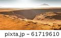 Impact craters on Mars. Sunset on Mars 61719610
