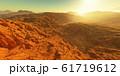 Sunset on Mars. Martian landscape 61719612