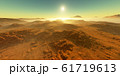 Sunset on Mars. Martian landscape 61719613