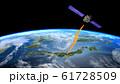 人工衛星 地球 日本 GPS 通信ネットワーク 電波 61728509