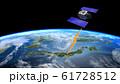 人工衛星 地球 日本 GPS 通信ネットワーク 電波 61728512