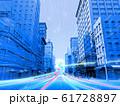 都会 都市 ビル群 高層ビル 光ネットワーク CG 61728897