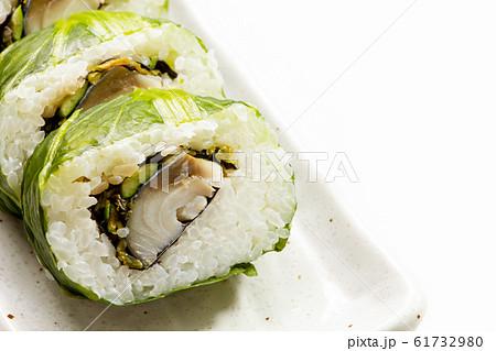 高菜巻き寿司(しめ鯖高菜巻き)。 61732980