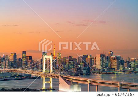 はちたまから見るレインボーブリッジのマジックアワー 【東京都】 61747267