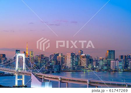 はちたまから見るレインボーブリッジのマジックアワー 【東京都】 61747269