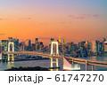 はちたまから見るレインボーブリッジのマジックアワー 【東京都】 61747270
