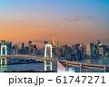 はちたまから見るレインボーブリッジのマジックアワー 【東京都】 61747271