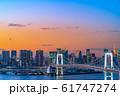 はちたまから見るレインボーブリッジのマジックアワー 【東京都】 61747274
