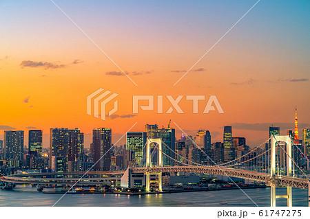 はちたまから見るレインボーブリッジのマジックアワー 【東京都】 61747275
