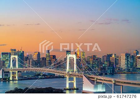 はちたまから見るレインボーブリッジのマジックアワー 【東京都】 61747276