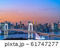 はちたまから見るレインボーブリッジのマジックアワー 【東京都】 61747277
