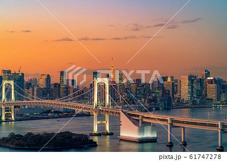 はちたまから見るレインボーブリッジのマジックアワー 【東京都】 61747278