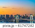 はちたまから見るレインボーブリッジのマジックアワー 【東京都】 61747282