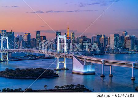 はちたまから見るレインボーブリッジのマジックアワー 【東京都】 61747283