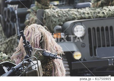陸上自衛隊の偵察斥候兵 61750905