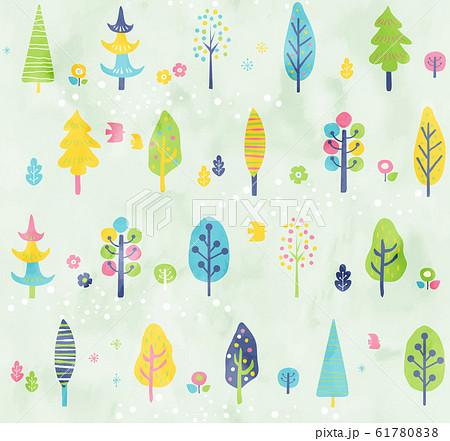 木のパターン春7 61780838