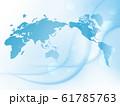 世界地図 地図 ビジネス背景 ビジネスイメージ グローバル 日本地図 61785763