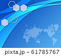 世界地図 地図 ビジネス背景 ビジネスイメージ グローバル 日本地図 61785767