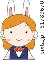 コスプレイヤー アニメキャラ オタク 漫画 かわいい 表情 ポーズ 喜怒哀楽 61789670