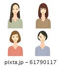 女性 ヘアスタイル イラストセット 01 61790117