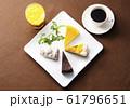 ケーキいろいろ ケーキとドリンク イメージ素材 61796651