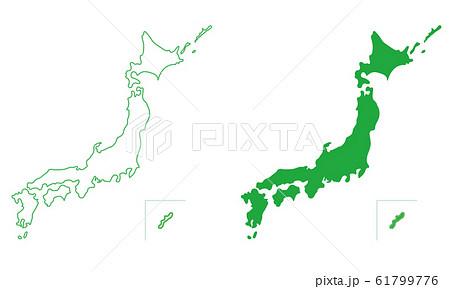 日本地図 61799776