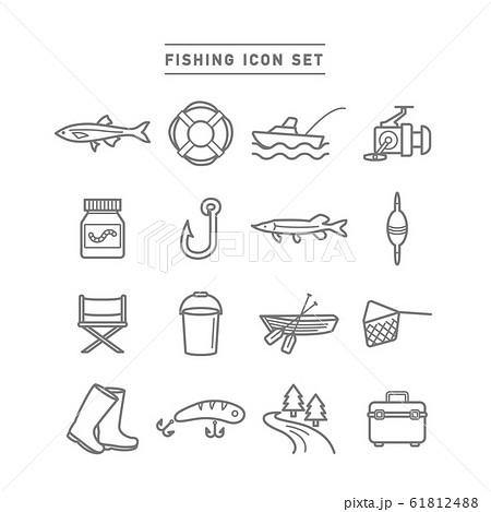 FISHING ICON SET 61812488