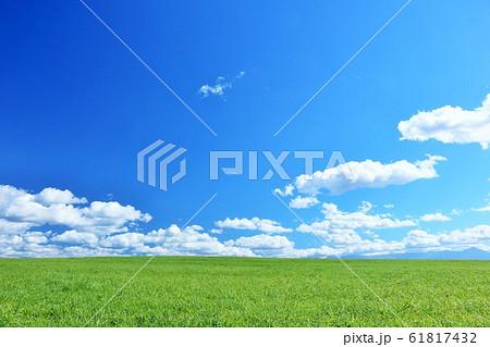 北海道 夏の青空と美瑛の大地 61817432