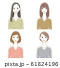 女性 ヘアスタイル イラストセット 04 61824196
