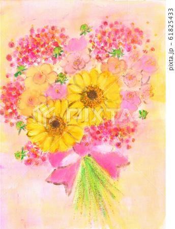 黄色いガーベラと赤い実の花束 61825433