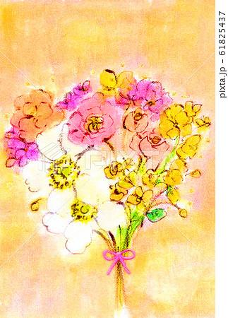 白いアネモネとラナンキュラスの花束 61825437