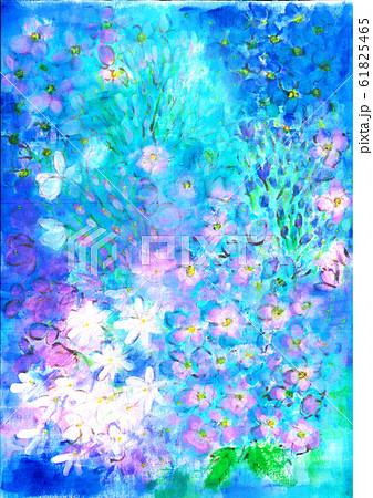 ブルーのお花の世界 61825465