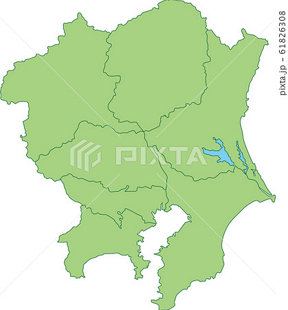 関東地方の地図 61826308