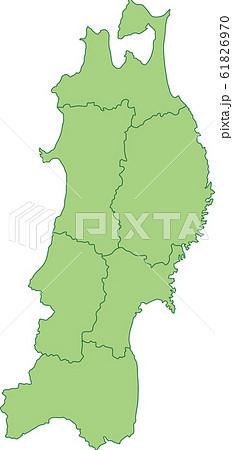 東北地方の地図 61826970