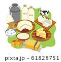 北海道 乳製品イメージイラスト 61828751