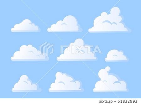 Set of clouds on blue sky. Vector illustration. 61832993