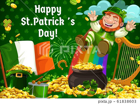 Shenanigans of leprechaun, Patricks day symbols 61838603