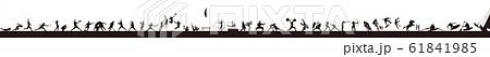 オリンピック アスリート 一連の競技を集めた帯 フッダー。下段パーツなどに 61841985