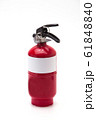 Red fire extinguisher on white background 61848840