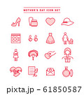 MOTHER'S DAY ICON SET 61850587