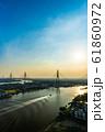 Bhumibol suspension bridge over Chao Phraya River 61860972