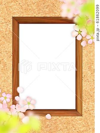 桜 木枠 テクスチャー 61862099