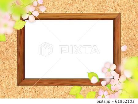 桜 木枠 テクスチャー 61862103